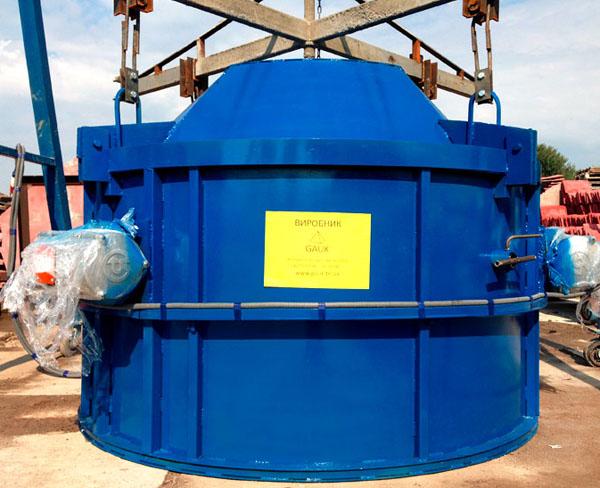 Віброформа для каналізаційних кілець